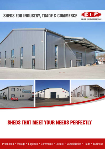 Brochure: E.L.F range of industrial sheds